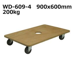 送料無料・代引不可|平台車2台セット/木製WD-609-4/【個人宅配送不可】