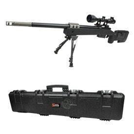 S&T M40A5 エアーコッキング ライフル BK【バイポッド&スコープ&ハードケースセット】