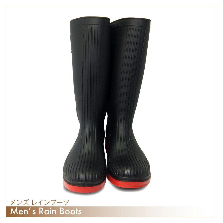 長靴 メンズ メンズカラーワークブーツ長靴/雨靴/作業靴/男性用/紳士/雨の日/RCP
