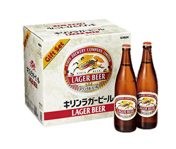 28.送料無料 K-NRLB12 キリンラガービール大びんセット 御歳暮 ギフトビール ギフト瓶ビール 沖縄は、別途2,500円
