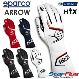 スパルコ レーシンググローブ 4輪用 外縫い ARROW(アロー) FIA 8856-2018公認 SPARCO(サイズ交換サービス)