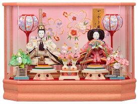 [S][かわいい 雛人形 おしゃれ ひな人形 ケース飾り] さやか大三五親王飾 143-235 [コンパクト 女の子 ピンク] [セール]