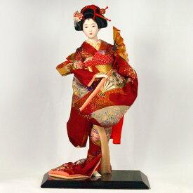 [H]【日本人形 尾山人形 市松人形】 【54】日本人形 [扇舞] 【訳あり品 アウトレット】