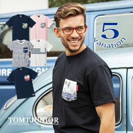 メンズ Tシャツ トップス カットソー 無地T ロゴT 半袖T クルーネック サーフカジュアル サーファー アメカジ トムティージュニア