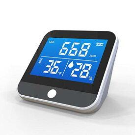 【即納・送料無料】二酸化炭素 濃度計 co2測定器 YourChecker ユアチェッカー 二酸化炭素濃度 3-in-1 co2 二酸化炭素チェッカー 室温計 湿度計 USB充電式