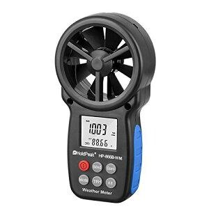 HOLDPEAK 866B-WMデジタル風速計 風力計 気圧計 高精度 多機能 ハンドヘルド携帯用 風&温度同時計測風量計 高度 相対湿度、露点 大気測定 LCDバックライト、データホールド付きドローン飛行、