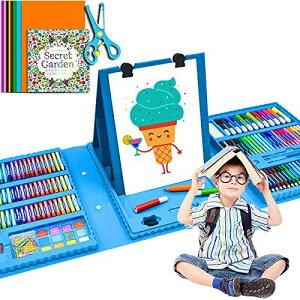 超豪華!Bootlife お絵かきアートセット 176ピース 子供のお絵かきセット 知育教育 文房具色鉛筆・クレヨン・カラーペンセット お絵かきセット 水性色鉛筆 持ち歩き おでかけ便利 子供 可愛い