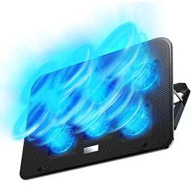 【2020年最新の 6つ冷却ファン 5段階調整 強冷 超静音】 ノートパソコン 冷却パッド 冷却台 ノートPCクーラー クール 超静音 USBポート2口 USB接続 風量調節可 高度調節可 7-17インチ ノートpc/iPad/Macbook/Macbook Pro 等に対応