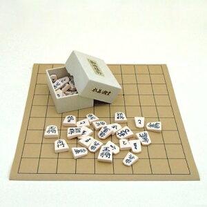 将棋セット セットでお得 塩ビ将棋盤とプラスチック製駒水無瀬書