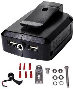 【12V出力搭載】 マキタ USB アダプター ADP05互換 12V/5V出力 18V/14.4V入力対応 NLAセレクト (3Aアダプター)
