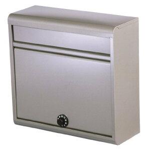 グリーンライフ(GREEN LIFE) 郵便ポスト チタングレー 奥行14×高さ35×幅37cm 薄型スチール ダイヤル錠 FH-614D(TGY)