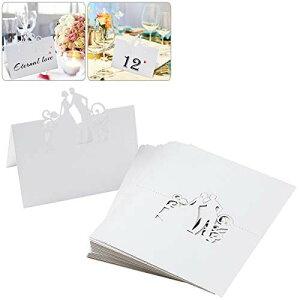 ROSENICE 席札シート 席札セット 座席カード メッセージカード ウエディング 結婚式 婚約式 パーティー用 50枚/セット