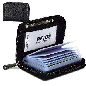 カードケース 大容量 革 カード入れ 磁気防止 スキミング防止 メンズ レディース クレジットカードホルダー ジッパー式 カードケース 大容量 カード入れ シンプル メンズ レディース...