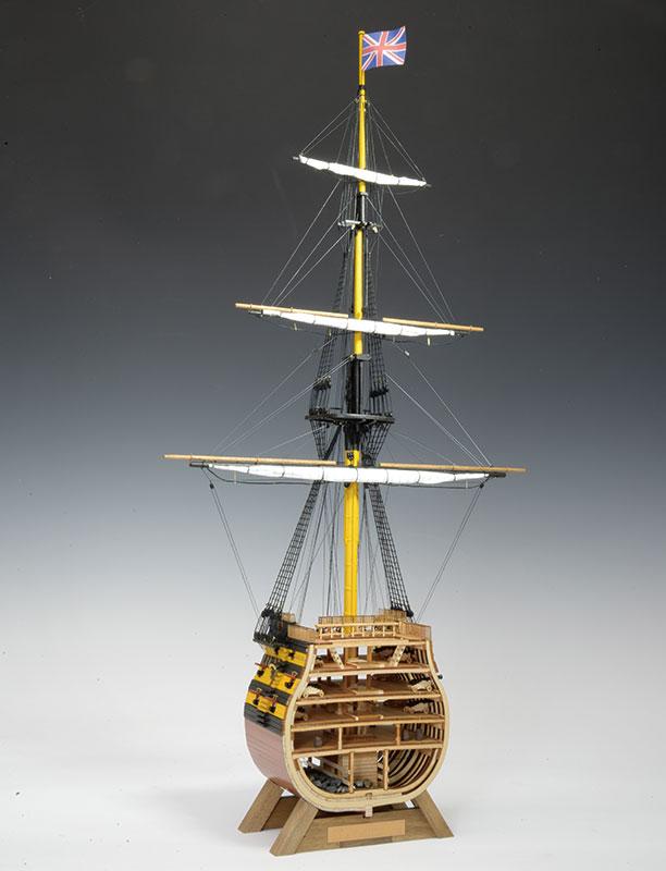 【送料無料】 ウッディジョー 木製帆船模型 1/160 ビクトリー カットモデル 帆付