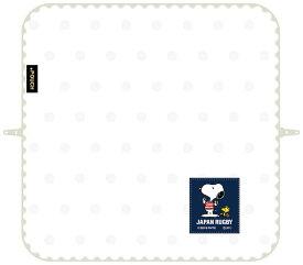 【ネコポス送料無料】 どっとポーチ ラグビー日本代表 スヌーピー ホワイト 【代引き不可、他商品との同梱不可】