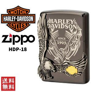 Harley Davidson ハーレー ダビッドソン ZIPPO ジッポー ライター HDP-18 喫煙具 ブラック シルバー 日本限定