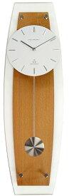 インテリア 電波振り子時計 ナチュラル贈り物に最適 商品サイズ縦56センチ横18センチ 強化ガラス仕様 TFR-1005NA