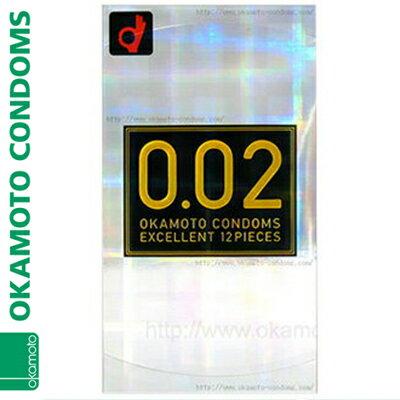 オカモト0.02EX うすさ均一 レギュラーサイズ レギュラーサイズ 12個