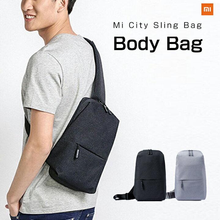 【正規品】ボディバッグ Mi City Sling Bag (ダークグレー/ライトグレー) Xiaomi 小米 シャオミ ショルダーバッグ メンズ レディース 旅行 通学 通勤 大容量 コンパクト