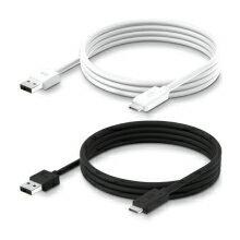 PureGearUSB-CtoA充電ケーブル新しいType-CポートUSB2.0規格長さ1.2m(ブラック/ホワイト)