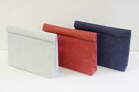 新色 クラッチバッグ wide SIWA 紙和 クラッチ カジュアルバック 軽量バック (和紙メーカー大直 と工業デザイナー深沢直人氏 がつくったアイテム)