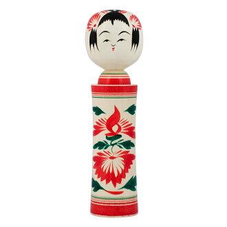7 1/4in Naruko Kokeshi Doll by Yasuo Okazaki of Kokeshi no Okajin, 6-sun (18.5cm, 7 1/4in) Tall