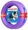 【犬用 おもちゃ】PULLER(プラー) MIDI (中) 2個1組 【中型・大型犬用】【ボール ロープ フライングディスク】【解説DVD付】