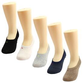 スニーカーソックス フットカバー 浅履き 靴下 コットン 抗菌防臭 レディース5色セット