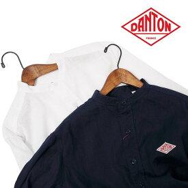 □メンズ/DANTON/ダントン/リネンバンドカラーシャツ/バンドカラー/品番:JD-3607KLS