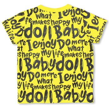 3/10NEW親子ペア★総柄メッセージTシャツ-子供服ベビーキッズお揃いリンクコーデペアコーデベビードールBABYDOLLstarvations-9003K_ss_sts