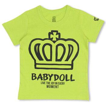 親子ペア★BIG王冠Tシャツ-ベビーキッズベビードールBABYDOLL-9139K_ss