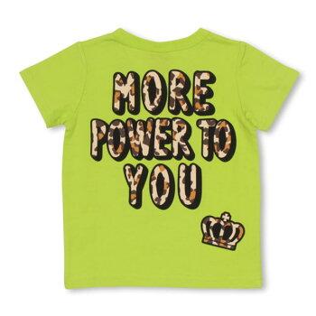 3/13NEW親子お揃いヒョウ柄メッセージTシャツ2261KベビードールBABYDOLL子供服ベビーキッズ男の子女の子