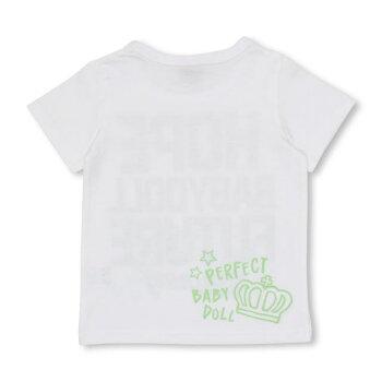 5/8NEW親子お揃いラクガキ蓄光Tシャツ2460KベビードールBABYDOLL子供服ベビーキッズ男の子女の子