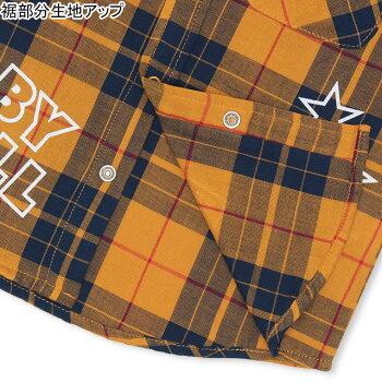 7/17NEW親子お揃いチェックシャツ2935KベビードールBABYDOLL子供服ベビーキッズ男の子女の子
