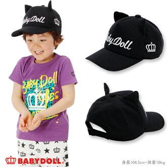 供有4/9NEW BABYDOLL耳朵的蓋子-黑色貓耳朵50-54cm調節可的雜貨帽子小孩小孩使用的嬰兒多爾starvations-0684 2018ss