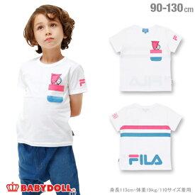 【30%OFF サマーSALE】BABYDOLL ドラえもん FILA Tシャツ-子供服 男の子 女の子 ホワイト フィラ 90-130cm ベビー キッズ ベビードール starvations-1207K 2018ss_sts