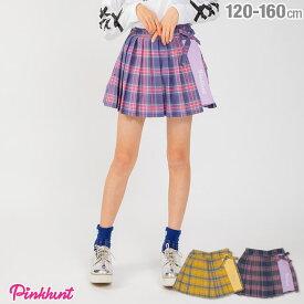 【50%OFF アウトレットSALE】PINKHUNT ピンクハント チェック スカート 1831K ベビードール BABYDOLL 子供服 キッズ ジュニア 女の子 小学生 中学生 おしゃれ かわいい PH
