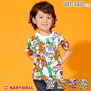 3/4NEW ディズニー キャラクター 総柄 Tシャツ 2136K ベビードール BABYDOLL 子供服 ベビー キッズ 男の子 女の子 コスチューム コスプ…