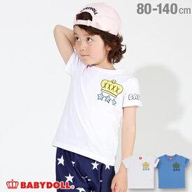 【50%OFF アウトレットSALE】ラクガキスプレー Tシャツ 2146K ベビードール BABYDOLL 子供服 ベビー キッズ 男の子 女の子