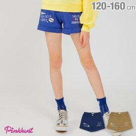 【4/12 10時〜TIME SALE 60%OFF】 PINKHUNT ピンクハント メッセージ 刺繍 ショートパンツ 2195K ベビードール BABYDOLL 子供服 キッズ ジュニア 女の子 小学生 中学生 おしゃれ かわいい PH