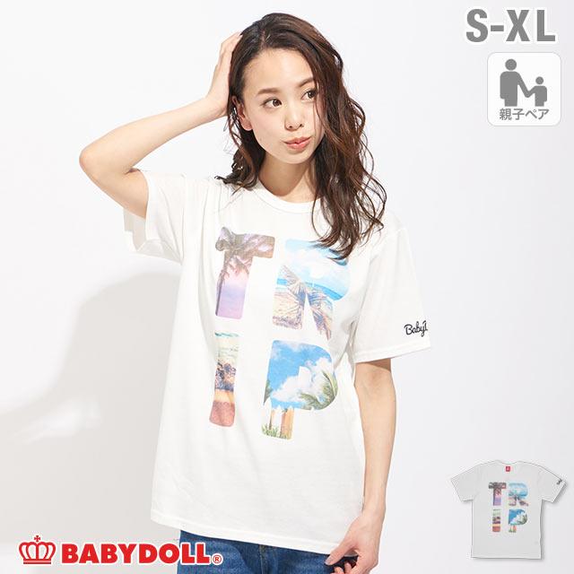 親子お揃い TRIPフォト Tシャツ 2273A ベビードール BABYDOLL 子供服大人 ユニセックス 男女兼用 レディース メンズ