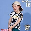 【50%OFF サマーSALE】親子お揃い 箔 ロゴ ヒョウ柄 Tシャツ 2278K ベビードール BABYDOLL 子供服ベビー キッズ 男の子 女の子