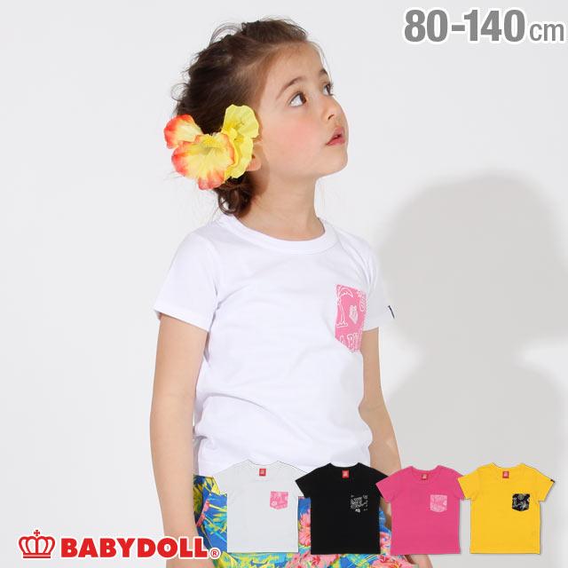 ポケット メッセージ Tシャツ 2439K ベビードール BABYDOLL 子供服 ベビー キッズ 男の子 女の子