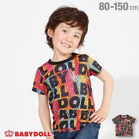 [2000円クーポン配布中&50%OFFからさらに20%OFF]【サマーSALE】ロゴ 総柄 Tシャツ 2462K ベビードール BABYDOLL 子供服 ベビー キッズ 男の子 女の子