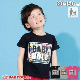 【50%OFF サマーSALE】親子お揃い シルバーライン Tシャツ 2535K ベビードール BABYDOLL 子供服 ベビー キッズ 男の子 女の子