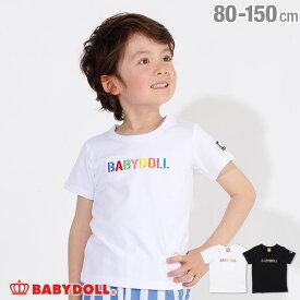 【8/26まで60%OFF】【サマーSALE】親子お揃い ロゴ刺繍 Tシャツ 2566K ベビードール BABYDOLL 子供服 ベビー キッズ 男の子 女の子