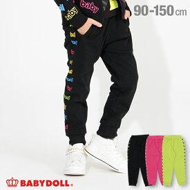 【30%OFF ウィンターSALE】サイドロゴ 切替 ロングパンツ 3287K ベビードール BABYDOLL 子供服 ベビー キッズ 男の子 女の子