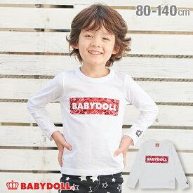 【4/16 13:59までSALE 990円ぽっきり】 ボックス ロゴ ロンT 3363K ベビードール BABYDOLL 子供服 ベビー キッズ 男の子 女の子