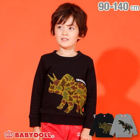 【50%OFF ウィンターSALE】迷彩恐竜 トレーナー 3402K ベビードール BABYDOLL 子供服 ベビー キッズ 男の子 女の子