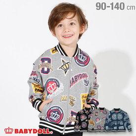 【50%OFF ウィンターSALE】ワッペン 総柄 ジャケット 3405K ベビードール BABYDOLL 子供服 ベビー キッズ 男の子 女の子